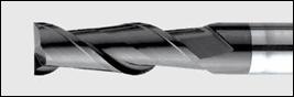фреза концевая двухперая по стали