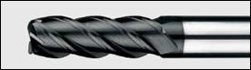 фреза четырехперая удлиненная с угловым радиусом